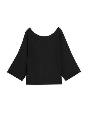 Round Neck Loose Sleeve Knitted Top