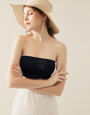 Seamless Jacquard Back Bandeau (with detachable bra pad)