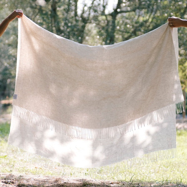 UASHMAMA® Linen Throw