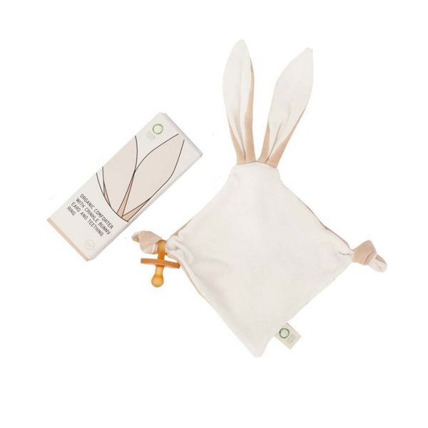 Wooly Organics Bunny Ears Comforter with Teether