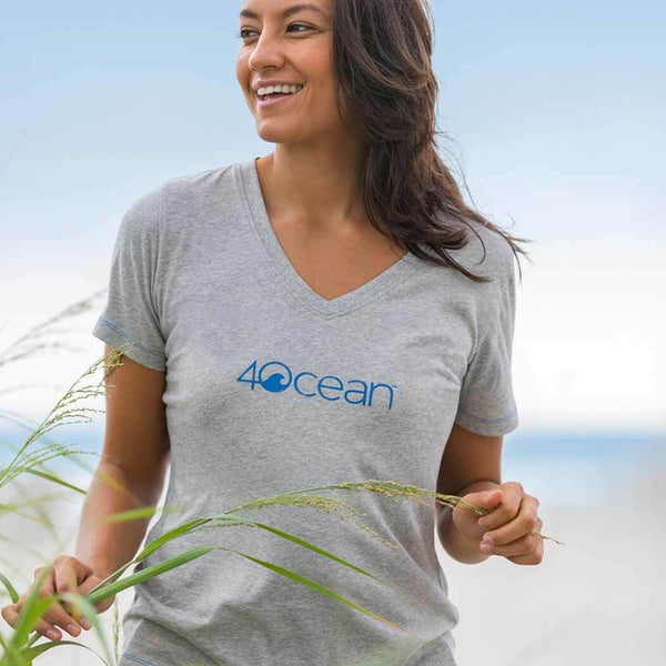 4Ocean® Women's Logo V-Neck T-Shirt