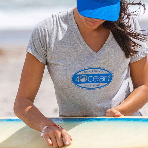 4Ocean® Women's Surf Badge V-Neck T-Shirt