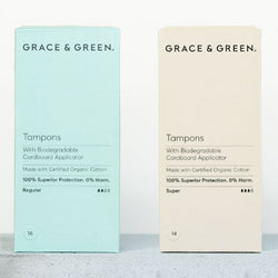 Grace & Green® Organic Tampons with Applicator