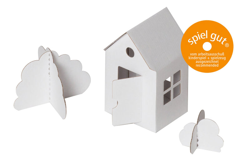 Bibabox Colour-In 3D Little House - 8 House Party Pack