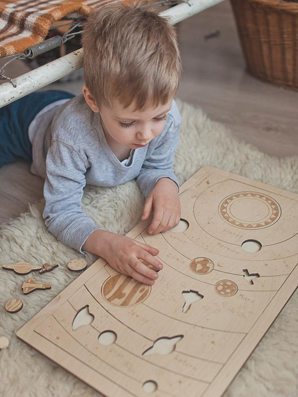 Planets Wooden Puzzle