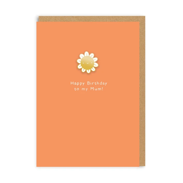 Happy Birthday Mum Enamel Pin Card