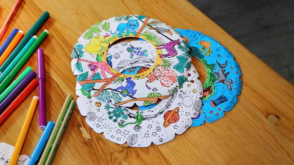 Bibabox Colour-In Indoor Frisbees - Pack of 3