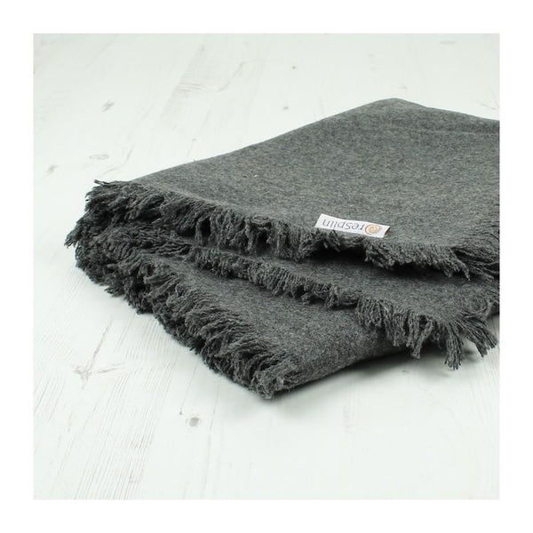 ReSpiin Recycled Wool Throw with Fringe