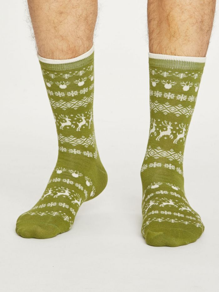 Thought® Men's Reindeer Socks