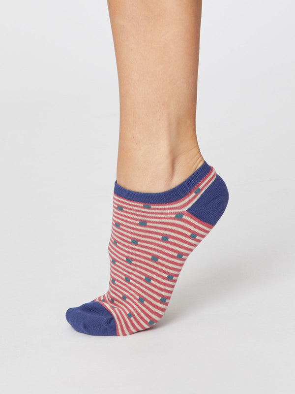 Spot & Stripe Trainer Socks