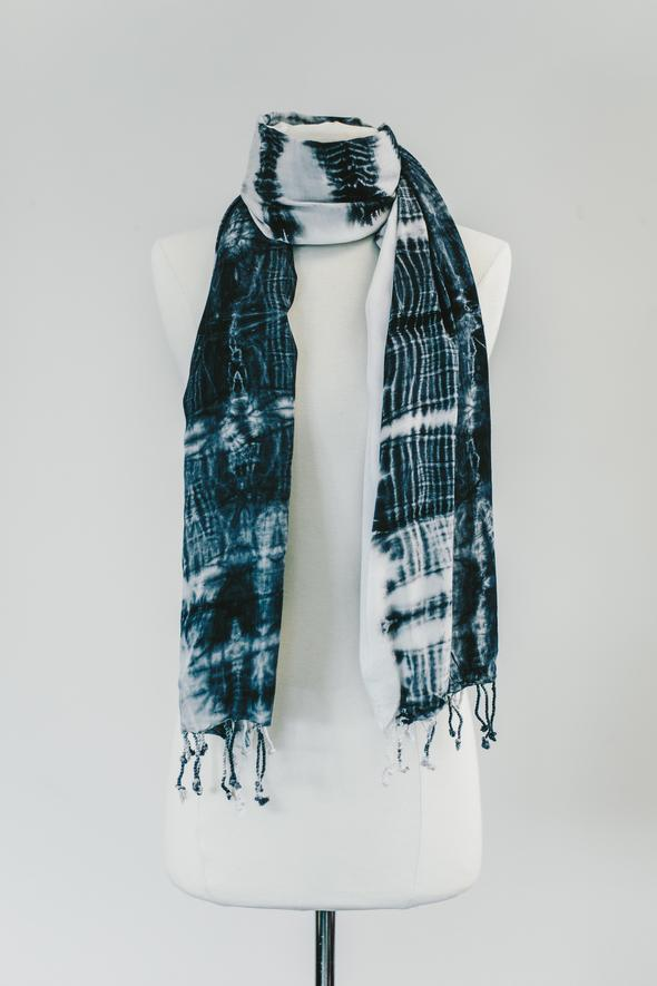 Zahara Charcoal Shadow Scarf