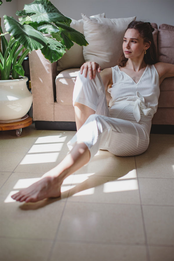 zoe jumpsuit white