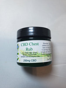 CBD Chest Rub with Menthol