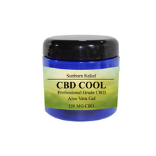 Load image into Gallery viewer, CBD Cool Sunburn Relief 350mg 4oz jar