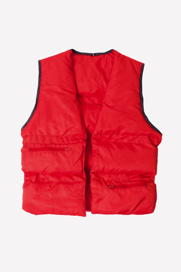 Cidenna Plush vest in cherry red