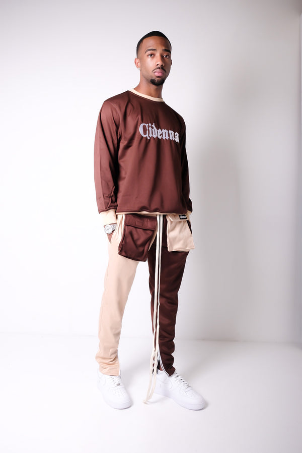Cidenna Two tone cargo pants in earth bone color