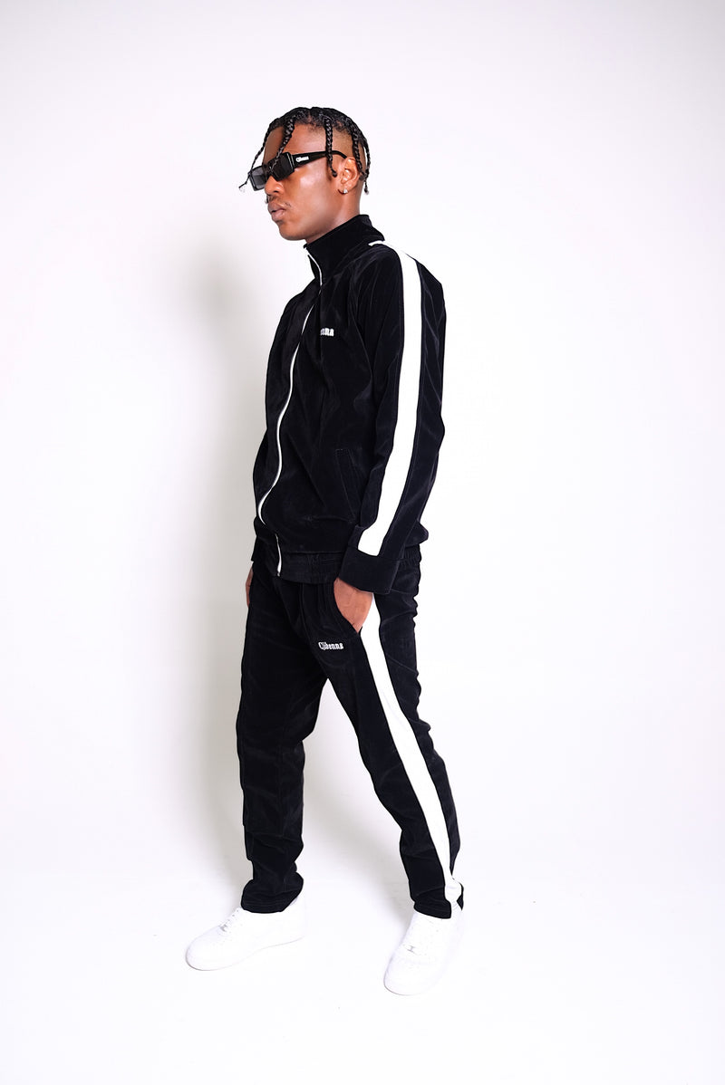 Black Velour Tracksuit