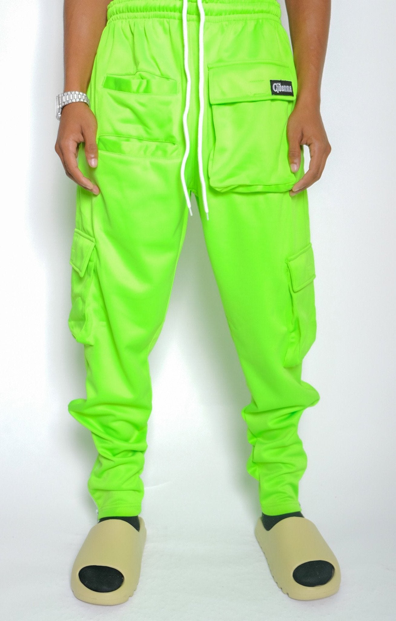 GREEN APPLE CARGO PANTS - CIDENNA