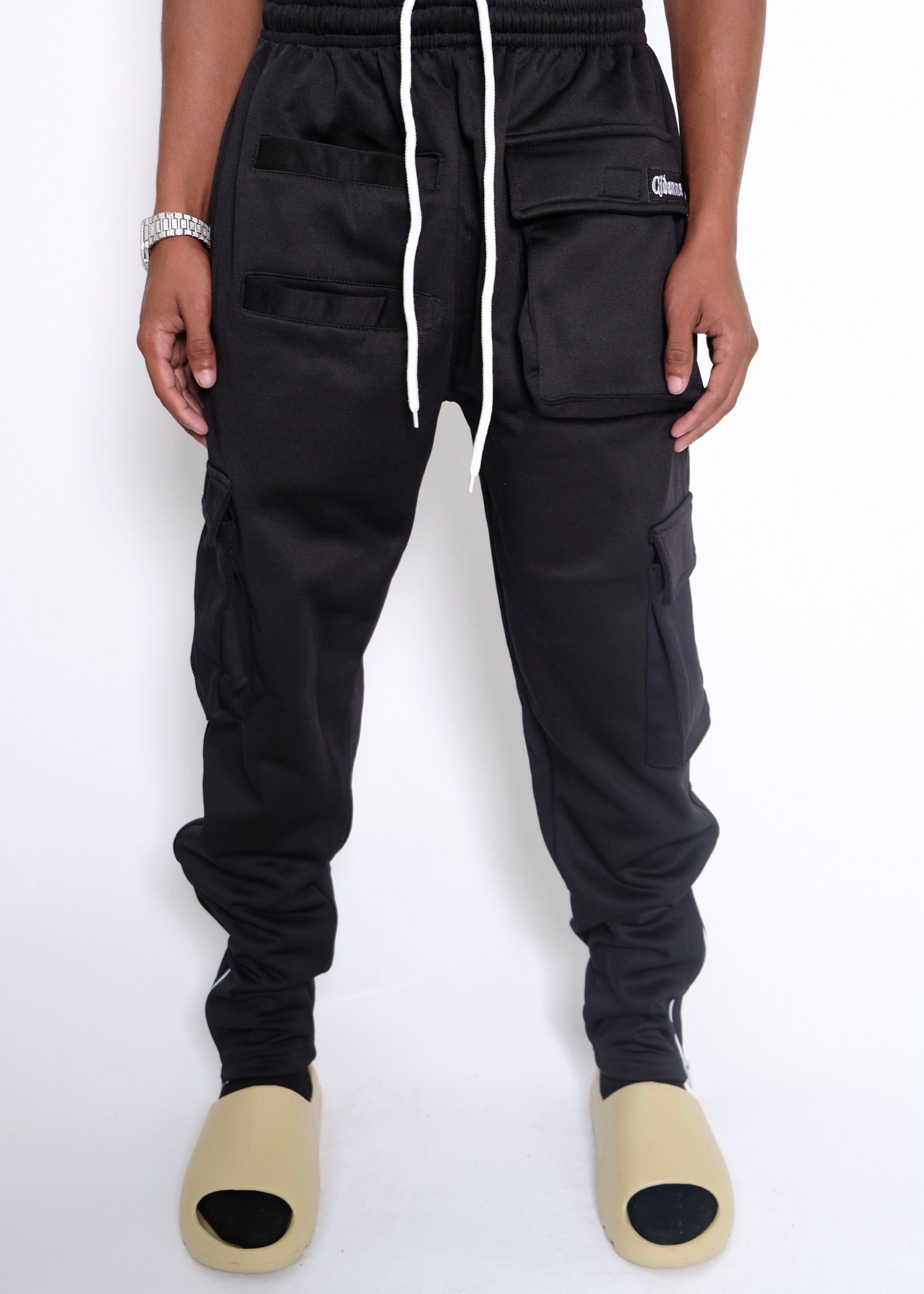 BLACK CARGO PANTS - CIDENNA