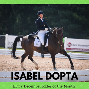 DECEMBER - EFO Rider of the Month: Isabel Dopta