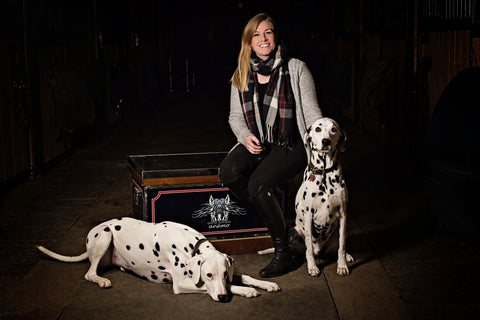 Maude Boulanger-Bouchard with her two dogs.