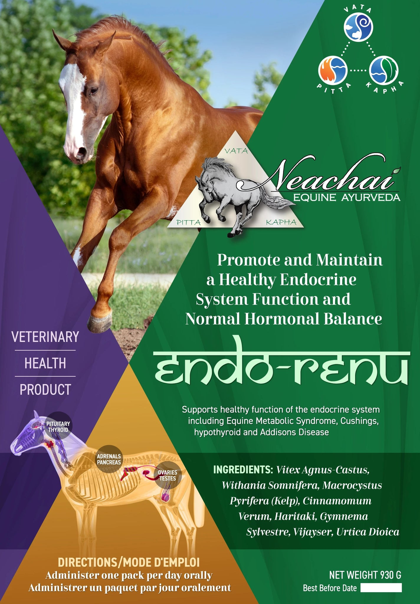Neachai herbal supplements. To promote and maintain a healthy endocrine system function and normal hormonal balance.