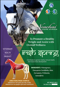 Neachai Irish Spring. A horse herbal supplement to promote a healthy weight and assist with overall wellness.
