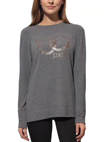 Chestnut Bay Graphic Lounge Sweater - Equestrian Fashion Outfitters