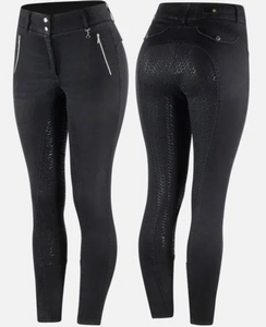 Horze Nicole Denim Breech - Equestrian Fashion Outfitters