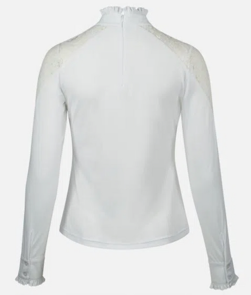 Horze Sylvie Lace Show Shirt - Equestrian Fashion Outfitters