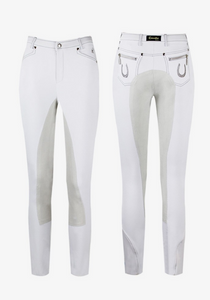 Cavallo International styled breeches for equestrians. These full seat dressage breeches are the perfect horseback riding pants for riders.