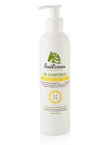 The ecolicious all natural product for grooming horses. In control grooming supplies for horses.
