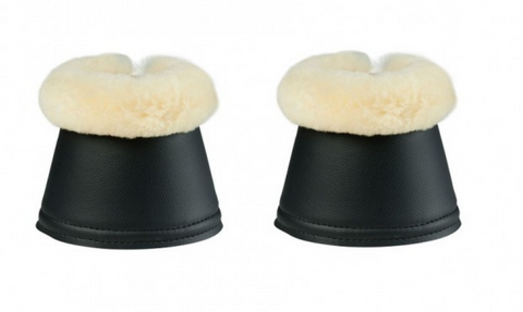 Equestrian Fashion Outfitters sheepskin bell boots for horseback riders. These bell boots are great for competition and everyday horseback riding.