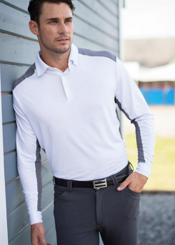EIS mens shirt for equestrian male horseback riders. This shirt is great for around the barn.