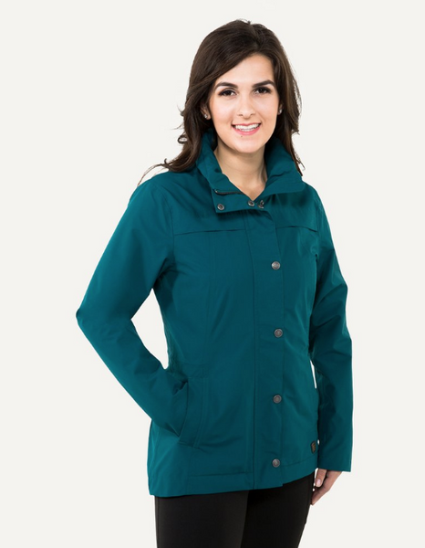 Noble Outfitters Cheval horseback riding rain jacket. This is a great comfortable and fashionable horseback riding rain jacket.