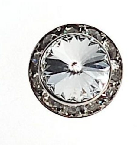 Equetech magnetic Swarovski crystal stock pin for the hunter and dressage competitive horseback riders.