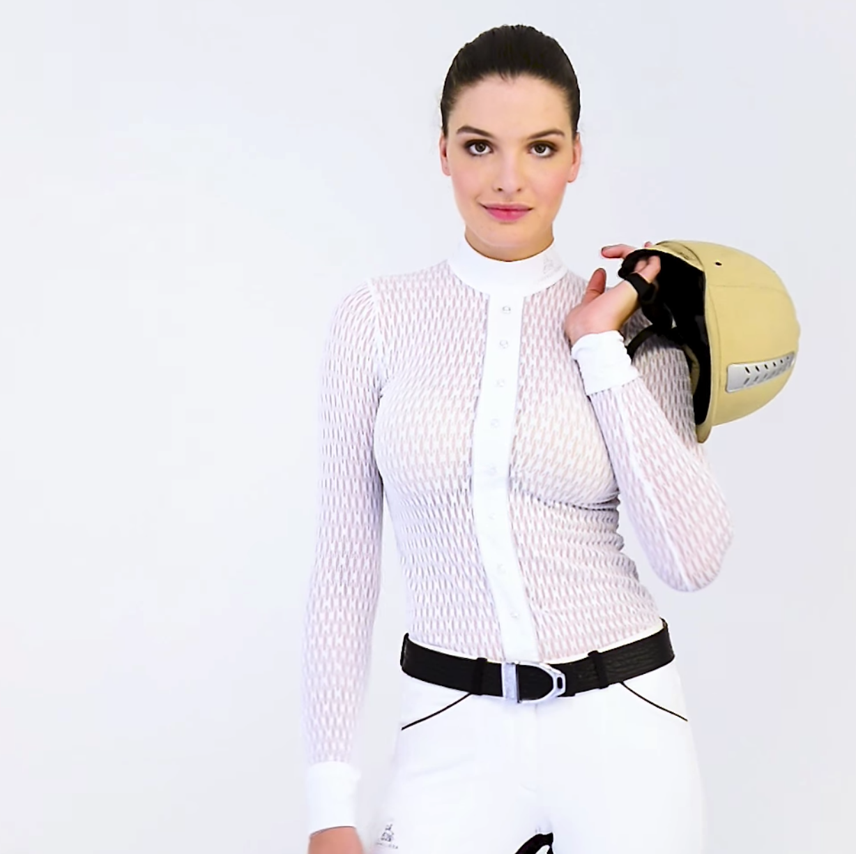 Diva Long Sleeve Technical Show Shirt - Equestrian Fashion Outfitters