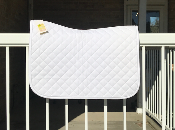 EFO White Saddle Pads - Equestrian Fashion Outfitters
