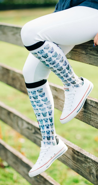 Stylish and comfortable riding socks for all equestrians. These dreamers and schemers boot socks are great for all horseback riders in fun, unique designs.