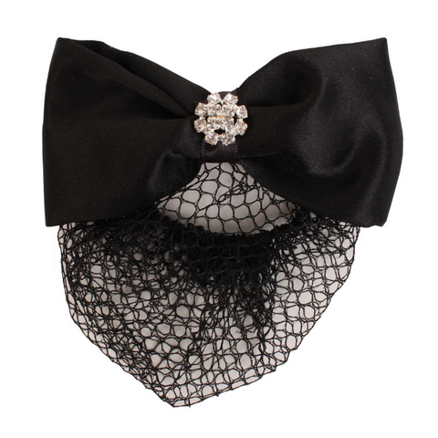 Showquest Hair Bow & Net with Pearls - Equestrian Fashion Outfitters