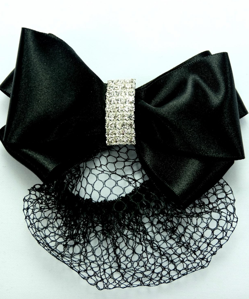 Showquest Hair Bow & Bun with Crystal - Equestrian Fashion Outfitters