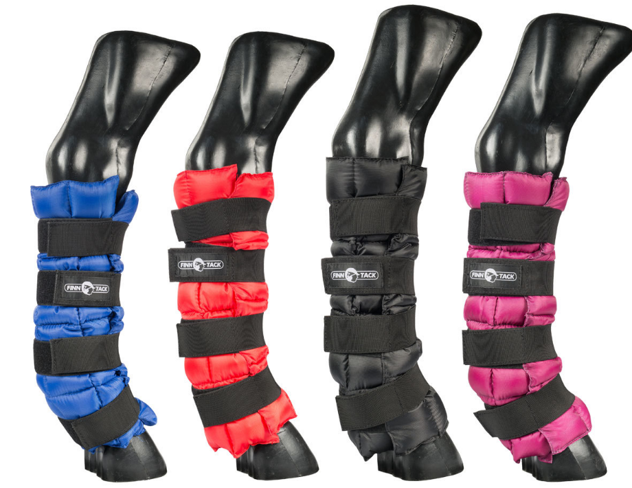 Finn Tack Ice boots for equestrian gear and horseback riding equipment.