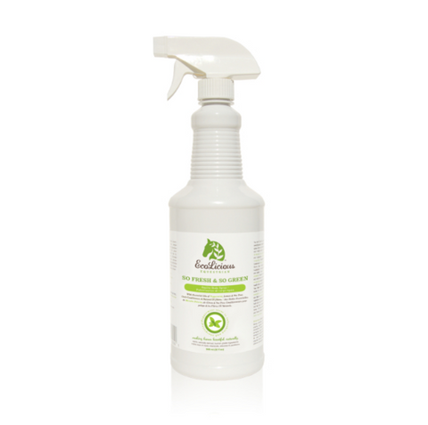 The ecolicious all natural product for grooming horses. Fly Repellent.