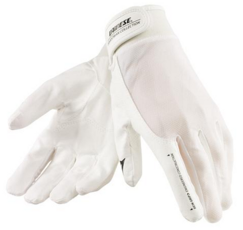 Dainese canter white gloves for the dressage rider. These horse gloves are a great for all horseback riders.
