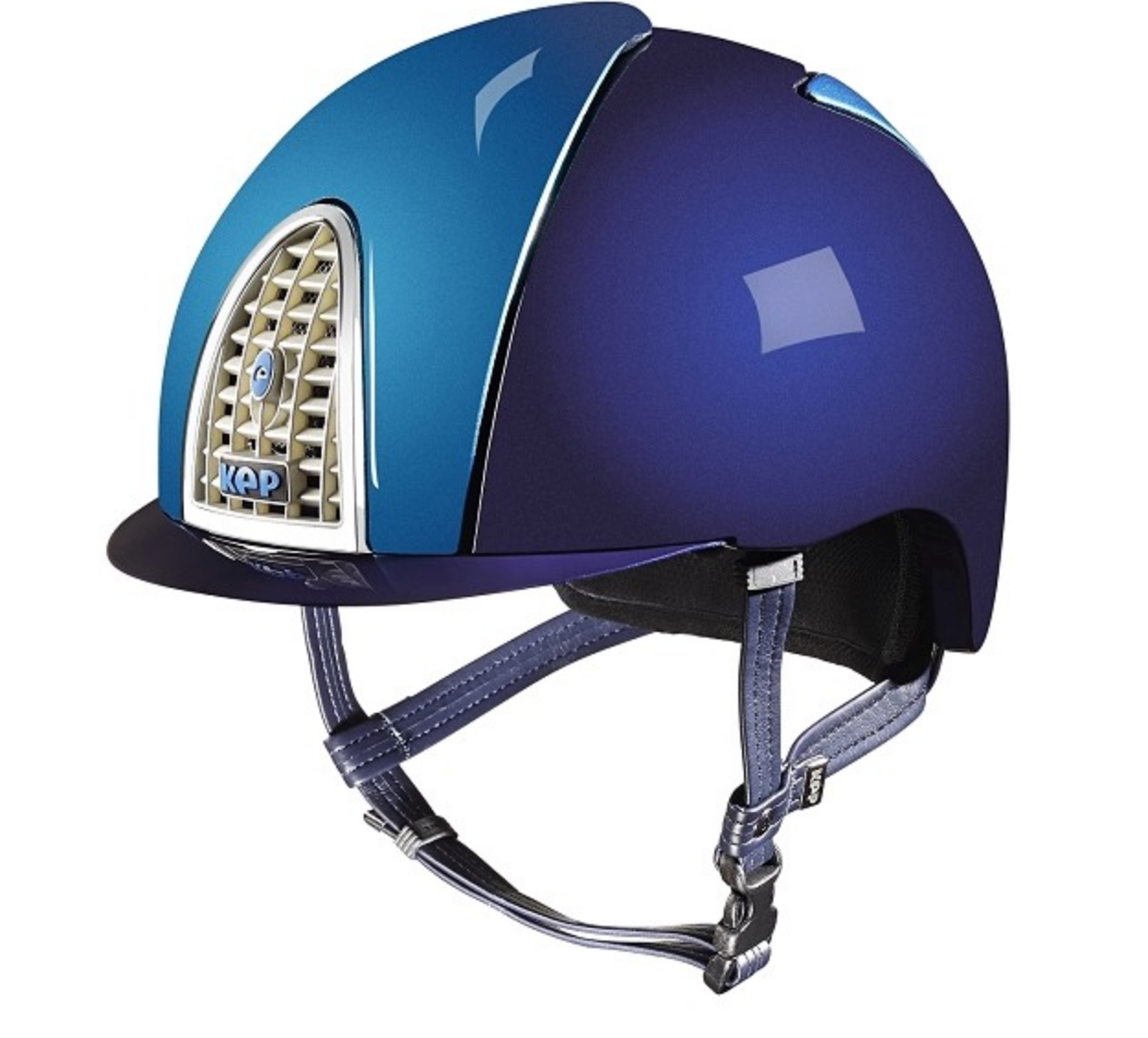 KEP Helmet front and back panel add-on for the stylish equestrian.