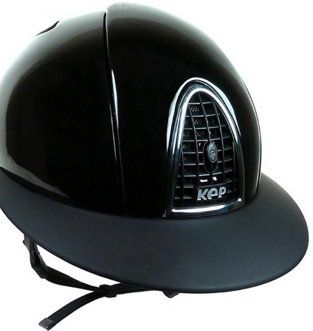 KEP helmet add-on visor for the stylish equestrian.