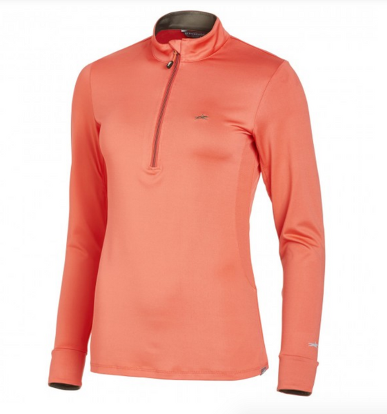 Schockemohle long-sleeve horseback riding top for fashionable equestrians.