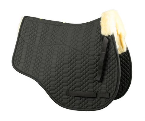 NSC jumper sheepskin saddle pad for hunter jumper horseback riders.