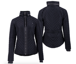 Black equestrian horseback riding jacket for the stylish equestrian. Fashionable equestrians can wear this with confidence.