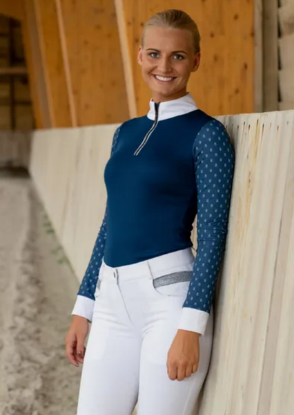 Horze Paige Long Sleeve Show Shirt - Equestrian Fashion Outfitters